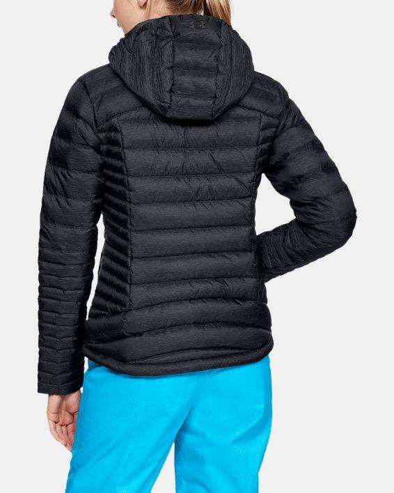 Women's UA Iso Down Hooded Jacket, Black, pdpMainDesktop image number 2