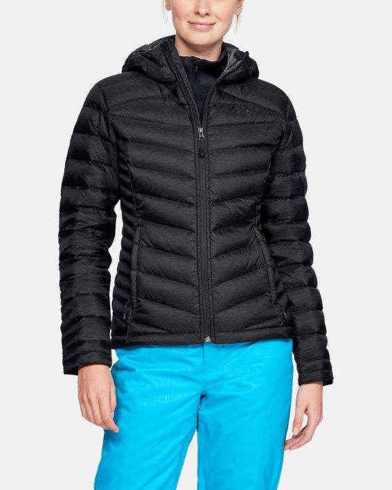 Women's UA Iso Down Hooded Jacket, Black, pdpMainDesktop image number 0