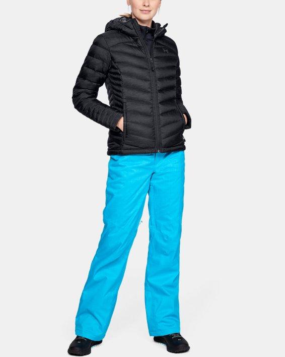 Women's UA Iso Down Hooded Jacket, Black, pdpMainDesktop image number 1