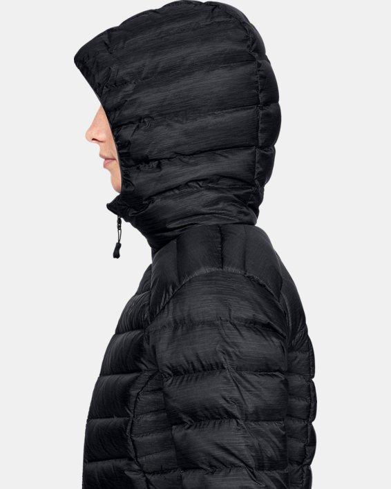 Women's UA Iso Down Hooded Jacket, Black, pdpMainDesktop image number 5