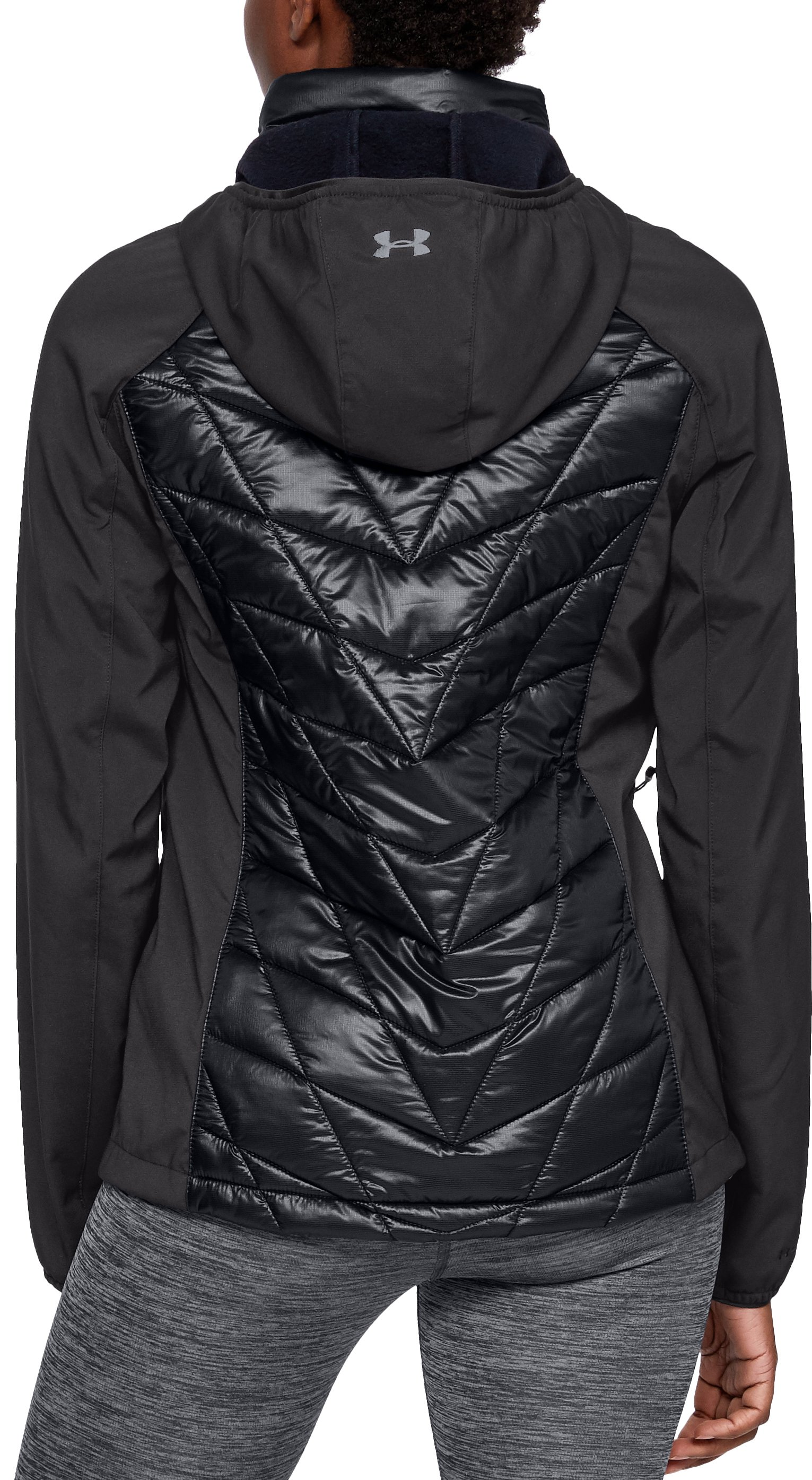Women's UA Encompass Hybrid Jacket, Black ,