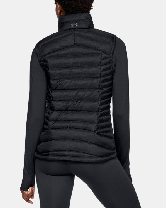 Women's UA Iso Down Vest, Black, pdpMainDesktop image number 2
