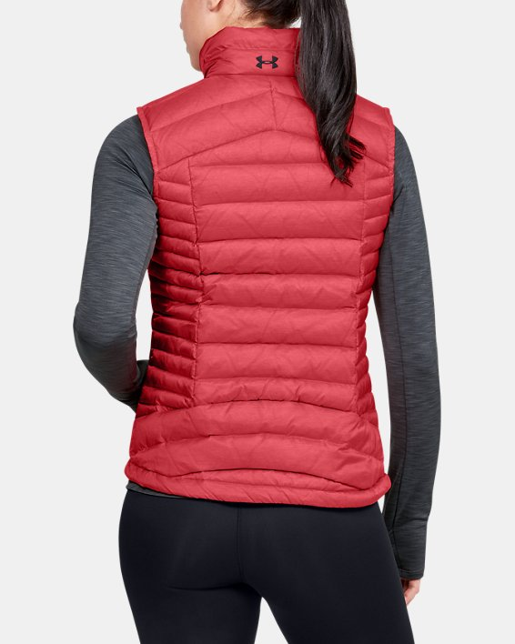 Women's UA Iso Down Vest, Orange, pdpMainDesktop image number 2
