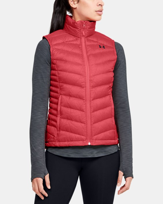 Women's UA Iso Down Vest, Orange, pdpMainDesktop image number 0