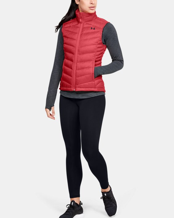 Women's UA Iso Down Vest, Orange, pdpMainDesktop image number 1