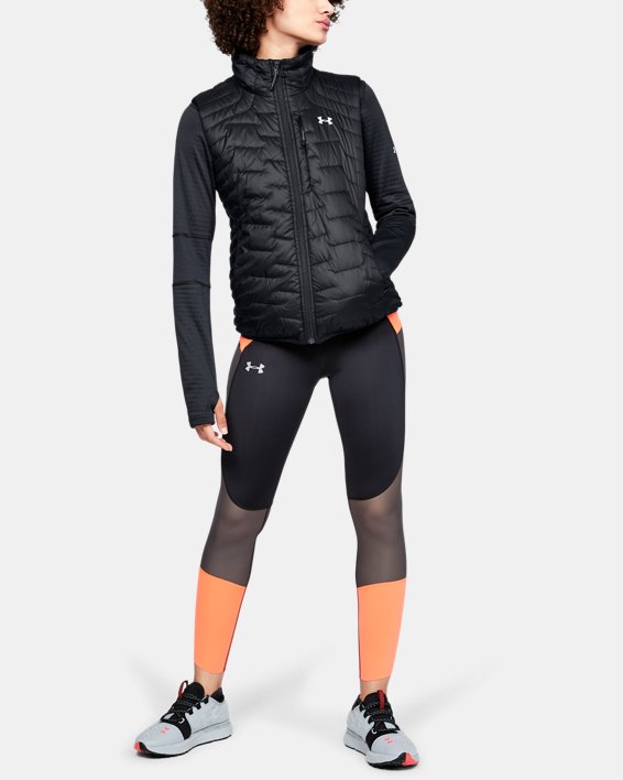 Women's ColdGear® Reactor Vest, Black, pdpMainDesktop image number 1