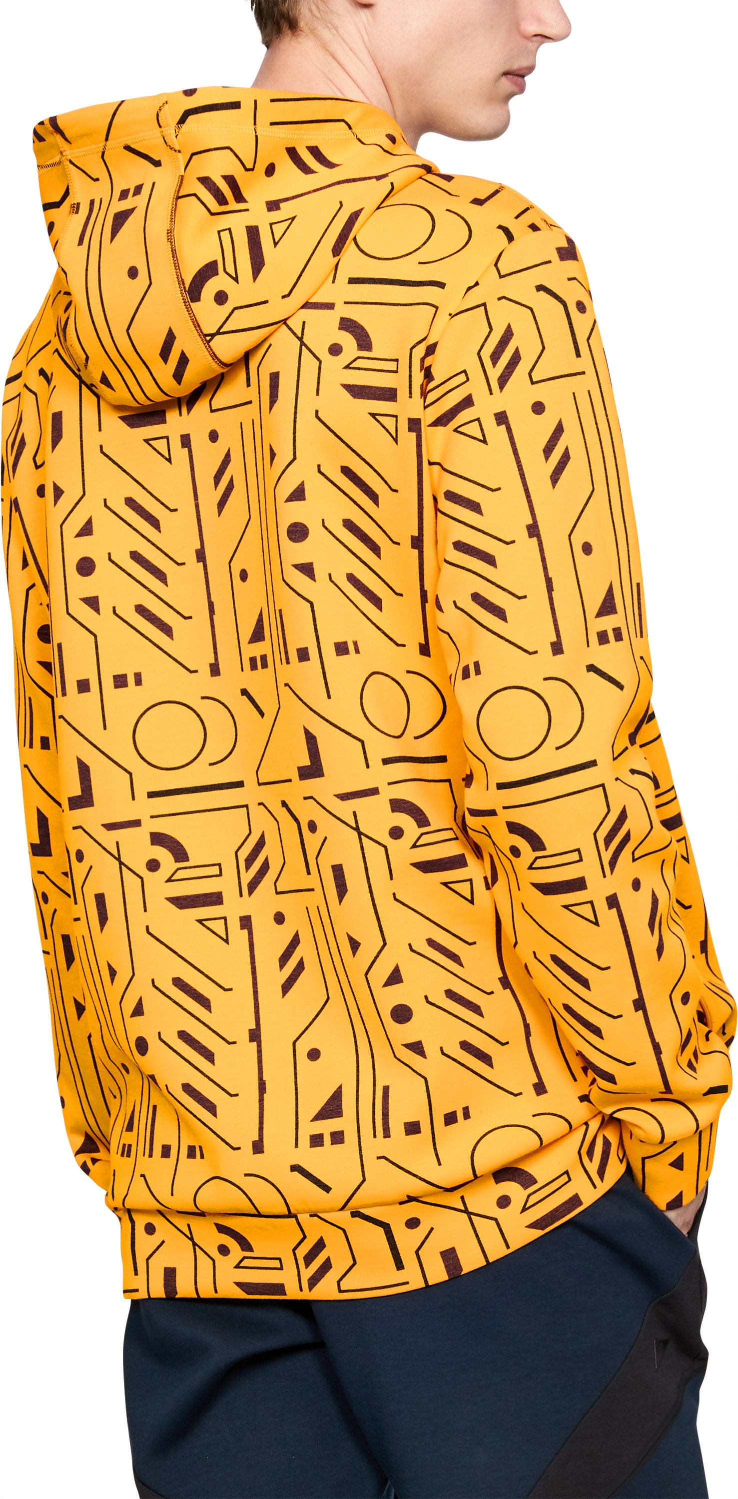 Men's UAS Graphic Hoodie, RADIANT YELLOW,