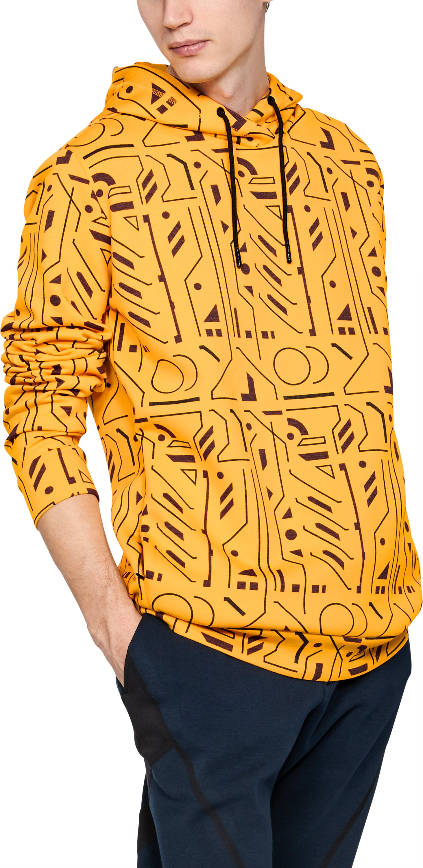 Men's UAS Graphic Hoodie, RADIANT YELLOW
