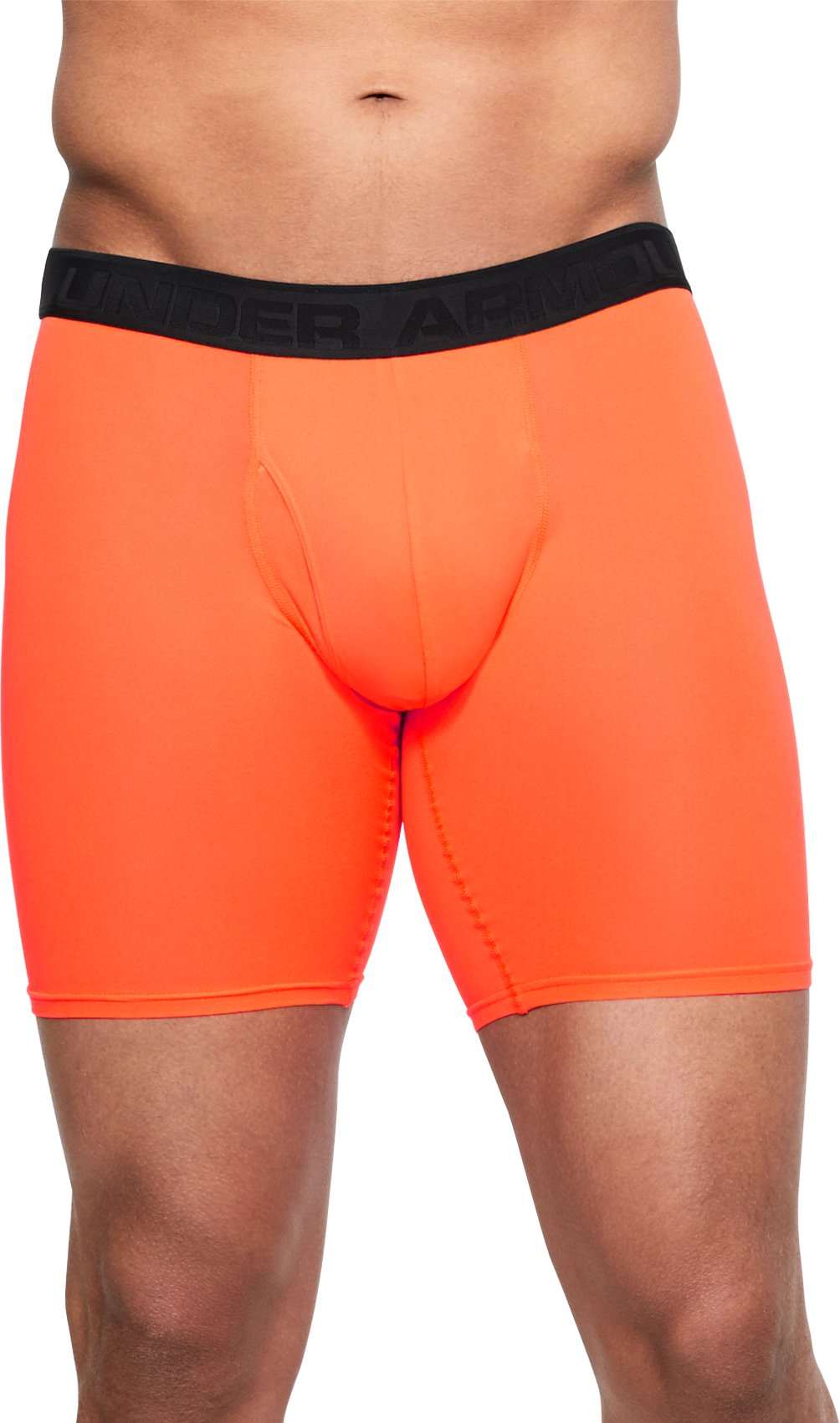 "Men's UA Microthread 9"" Boxerjock®, MAGMA ORANGE, undefined"