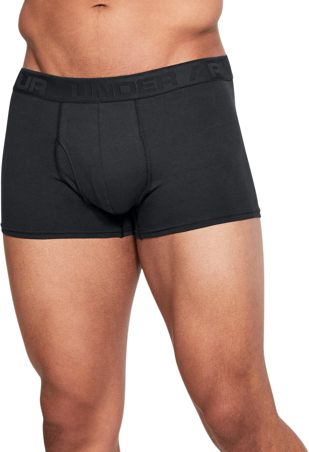 "Men's UA Microthread Natural 3"" Boxerjock®, Black ,"