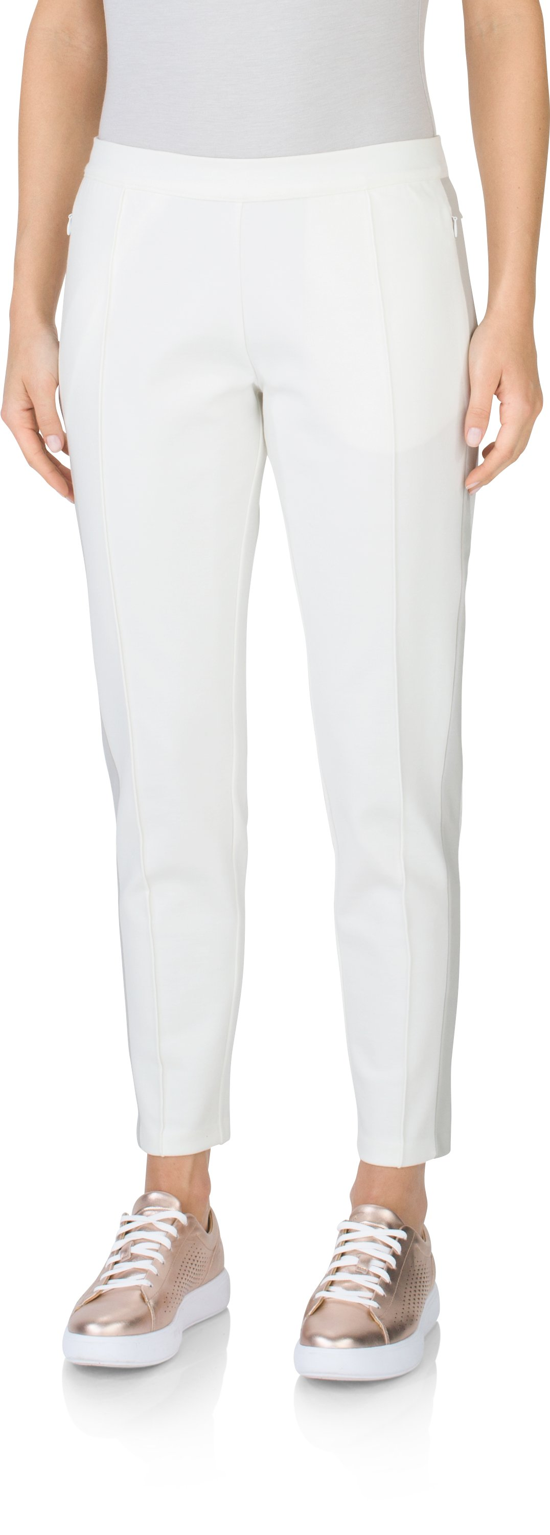Women's UAS Knit Blocked Pull-On Pants, White, undefined