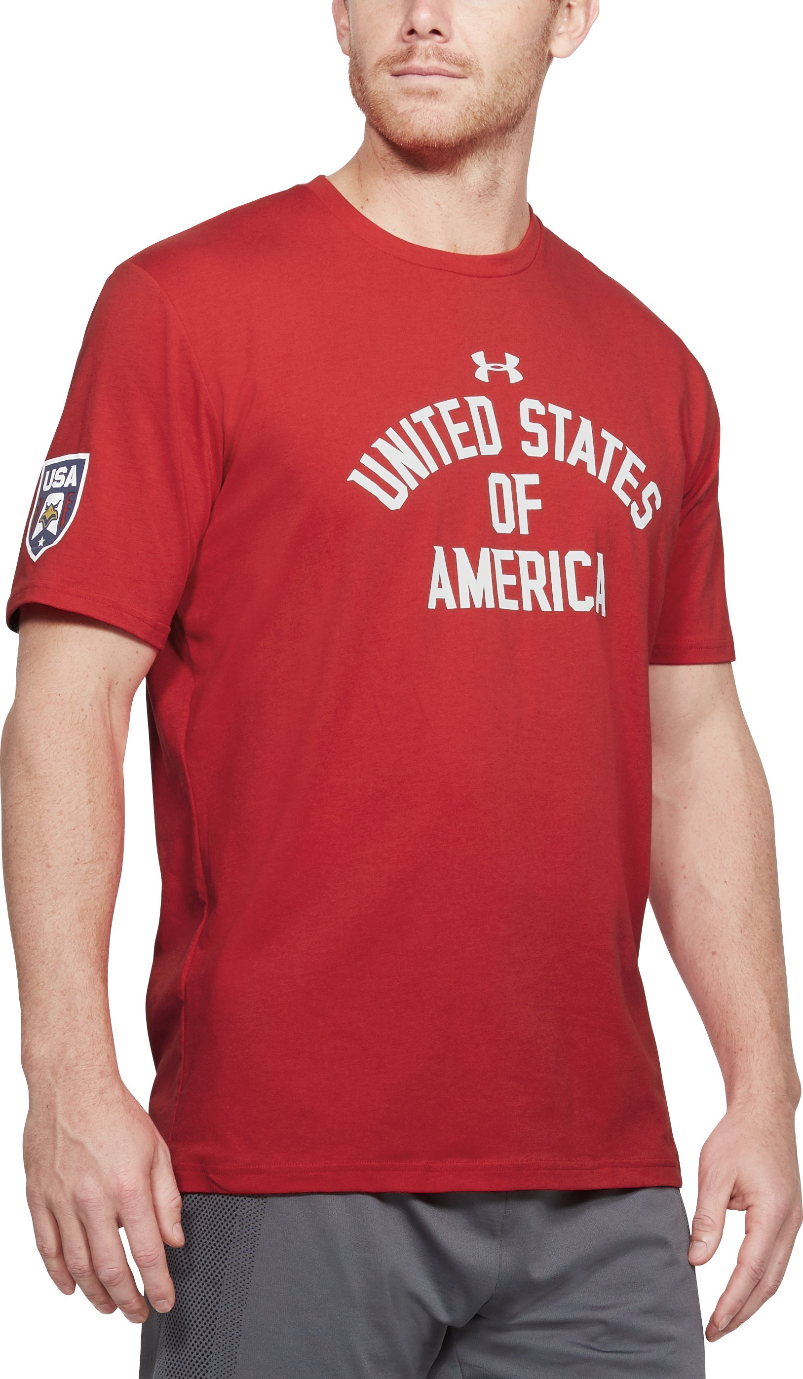 Men's UA USA Verbiage T-Shirt, Red