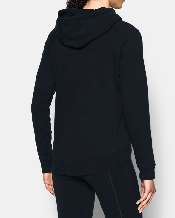 Women's UA Fashion Favorite Word Graphic Pullover, Black, pdpMainDesktop image number 2