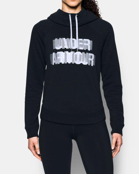 Women's UA Fashion Favorite Word Graphic Pullover, Black, pdpMainDesktop image number 0