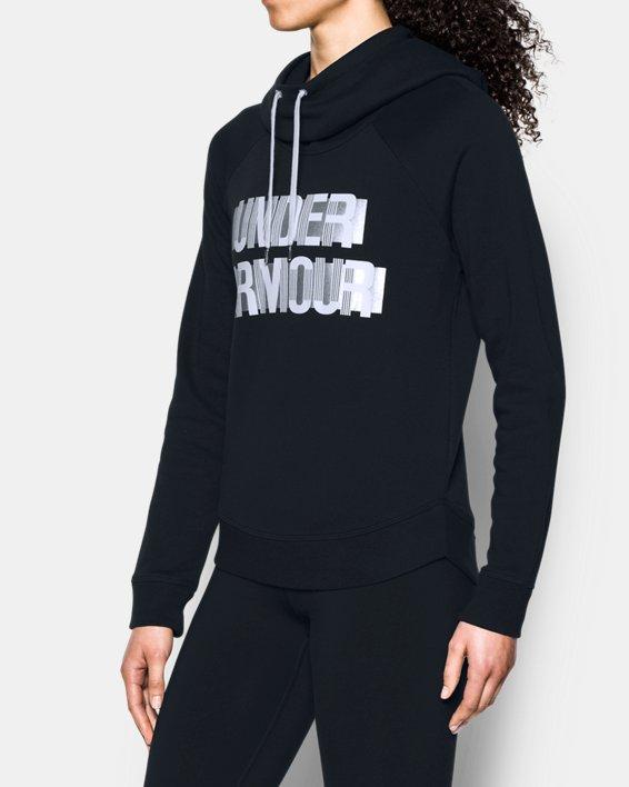 Women's UA Fashion Favorite Word Graphic Pullover, Black, pdpMainDesktop image number 1