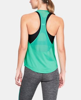 Women's HeatGear® Mesh Back Tank  1  Color Available $30