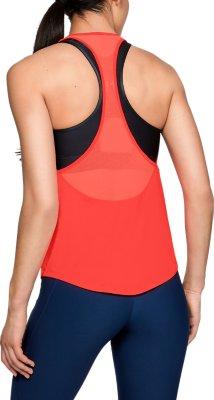 Under Armour UA HeatGear Mesh Back Tank Tourmaline Ladies Sports Running Vest