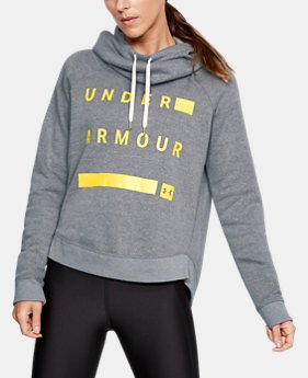 Women's UA Favorite Fleece Pullover Graphic Hoodie  1  Color Available $65