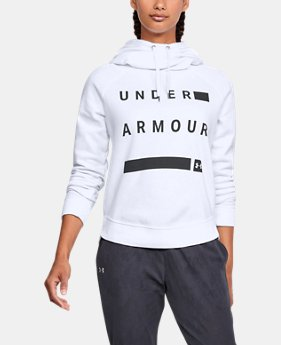 New Arrival  Women's UA Favorite Fleece Pullover Graphic Hoodie  4 Colors $65