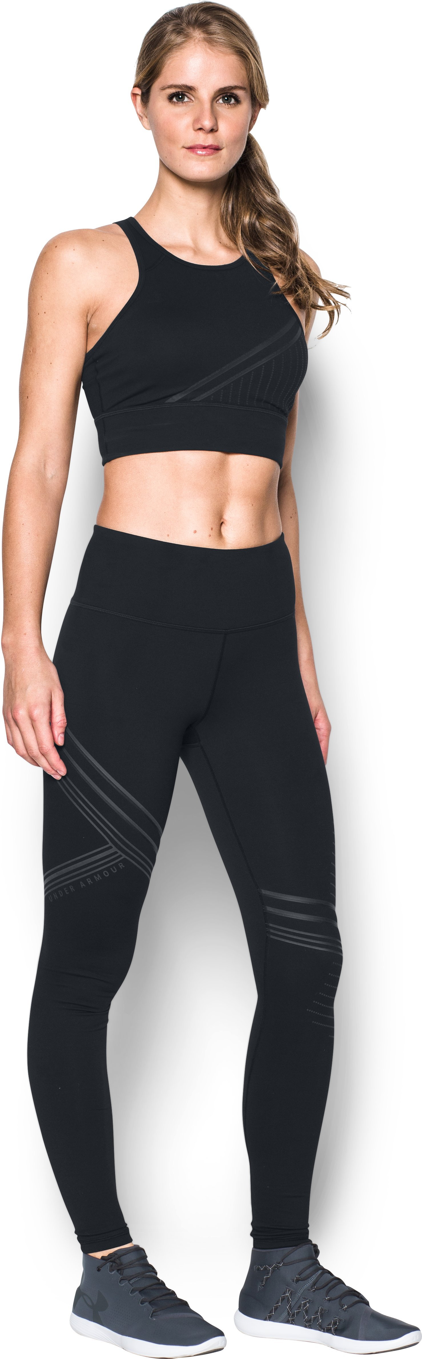 Women's UA Luminous Leggings, Black , Front