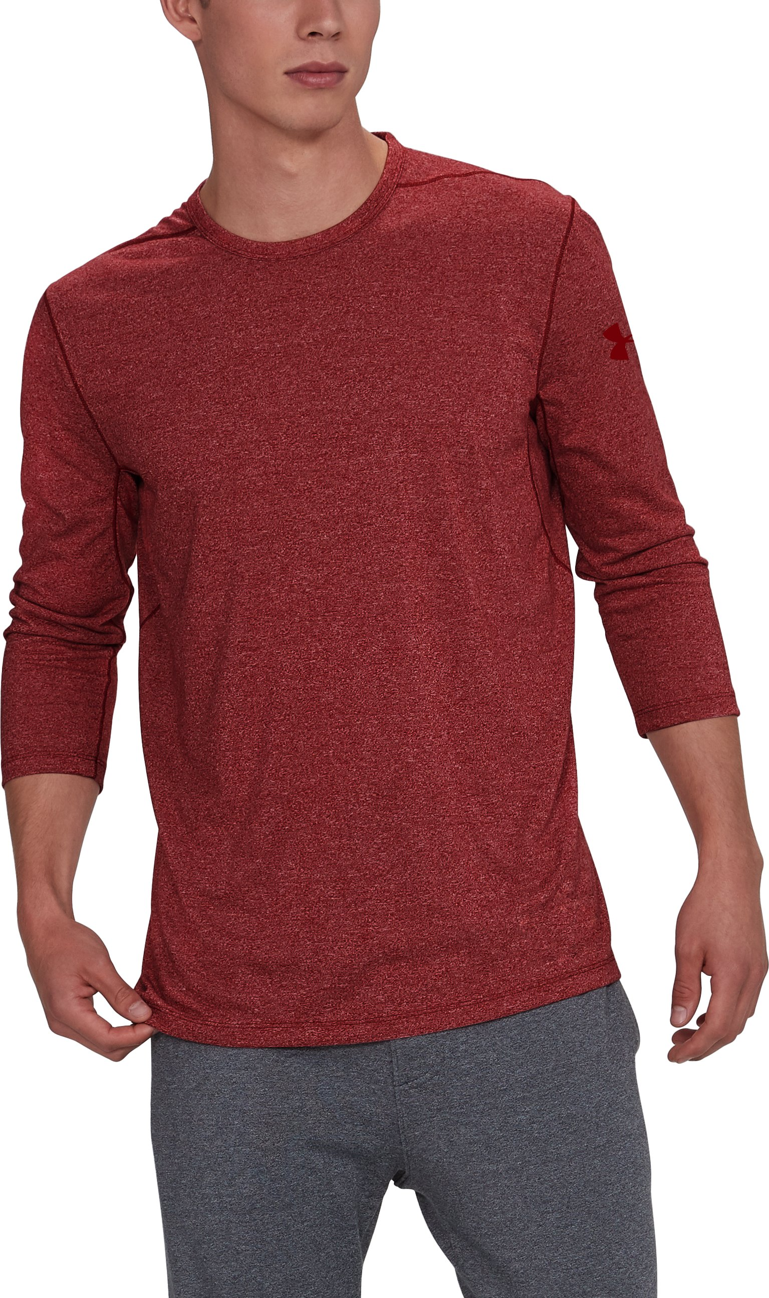 Men's UA Siro ¾ Utility T-Shirt, RAPTURE RED