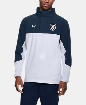 Men's UA Stars & Stripes Woven ½ Zip  1  Color Available $74.99