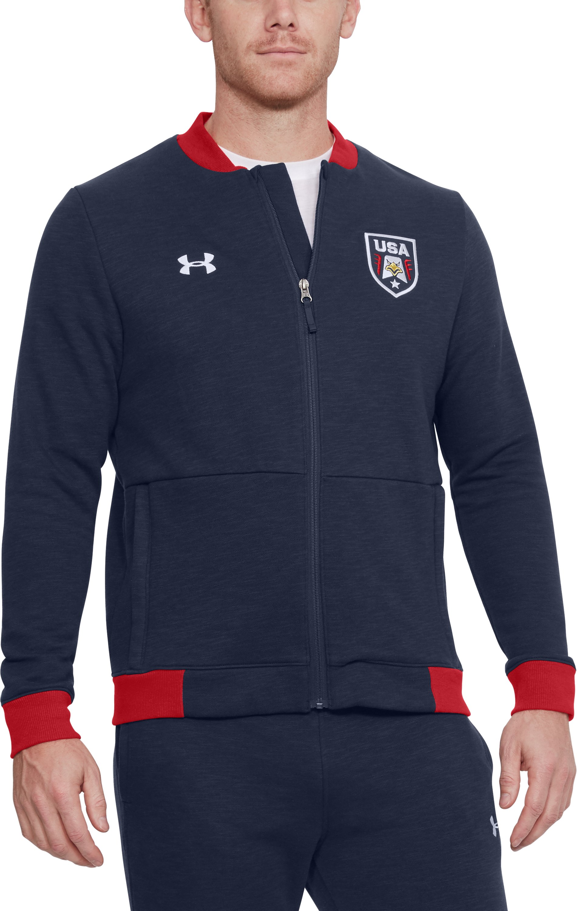 Men's UA Stars & Stripes Bomber Jacket 1 Color $48.74