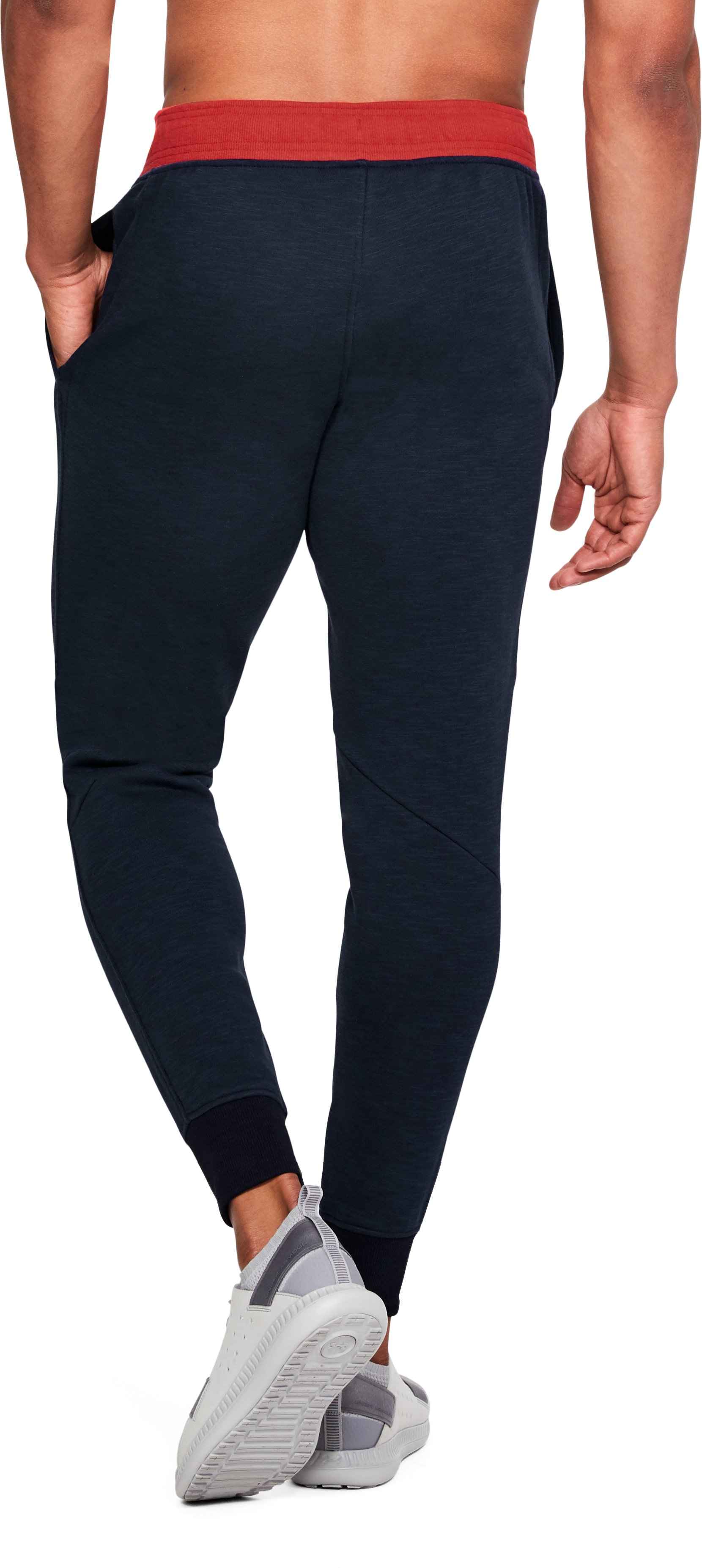 Men's UA Stars & Stripes Fleece Pants, Midnight Navy,