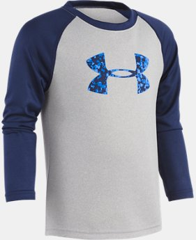 Boys' Pre-School UA Digi City Big Logo Raglan Long Sleeve Shirt  1 Color $22.99