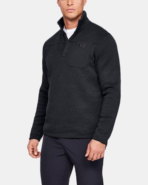 Men's UA Specialist Henley 2.0 Long Sleeve, Black, pdpMainDesktop image number 0