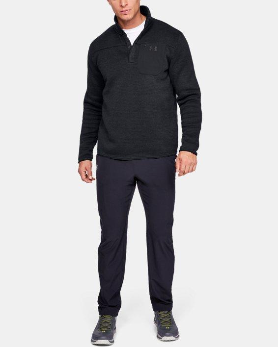 Men's UA Specialist Henley 2.0 Long Sleeve, Black, pdpMainDesktop image number 1