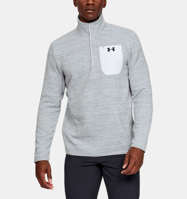 Men's UA Specialist Henley 2.0 Long Sleeve, Halo Gray, , Halo Gray, Click to view full size