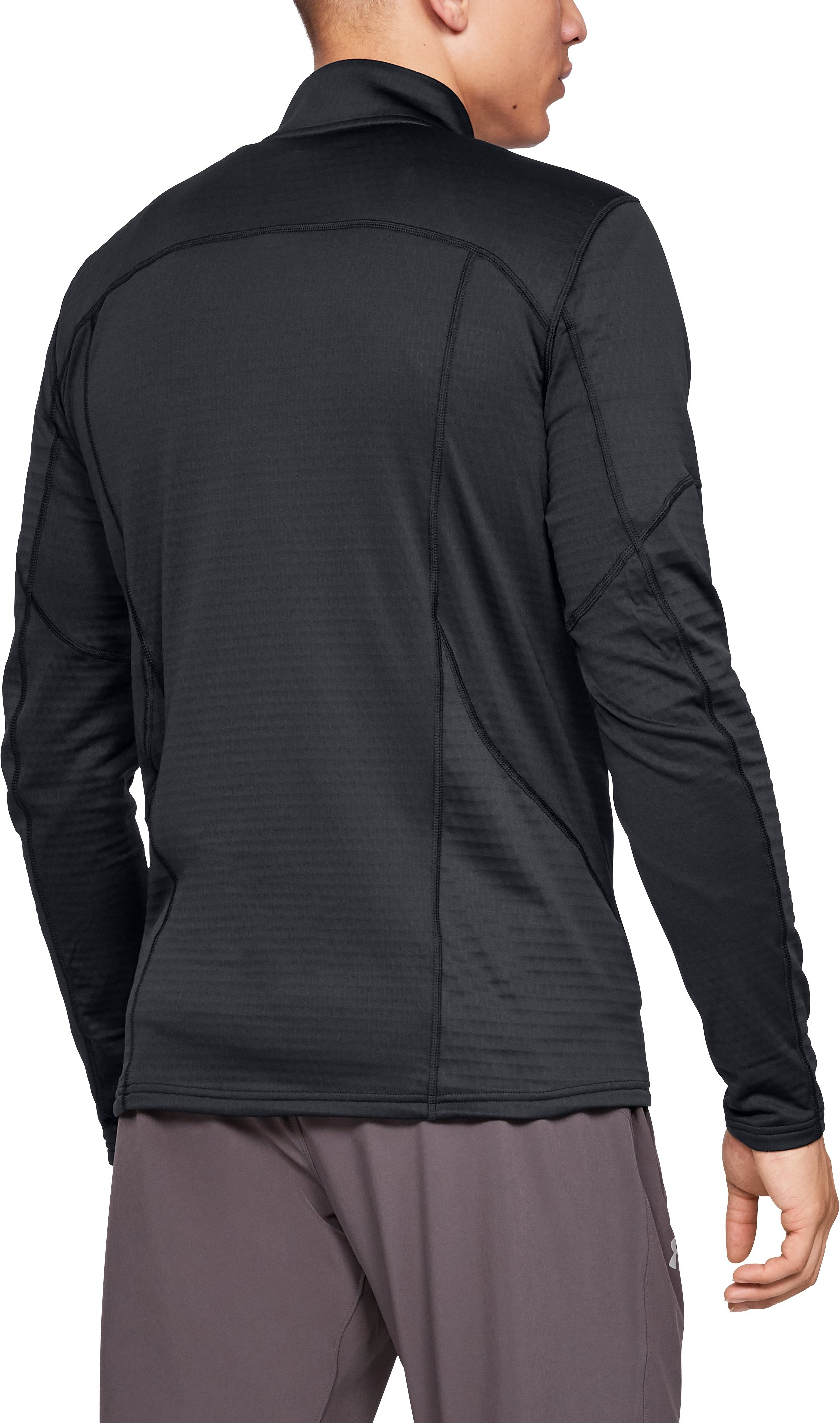 Men's UA Spectra ½ Zip, Black ,