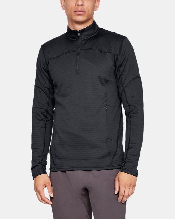 Men's UA Spectra ½ Zip, Black, pdpMainDesktop image number 0
