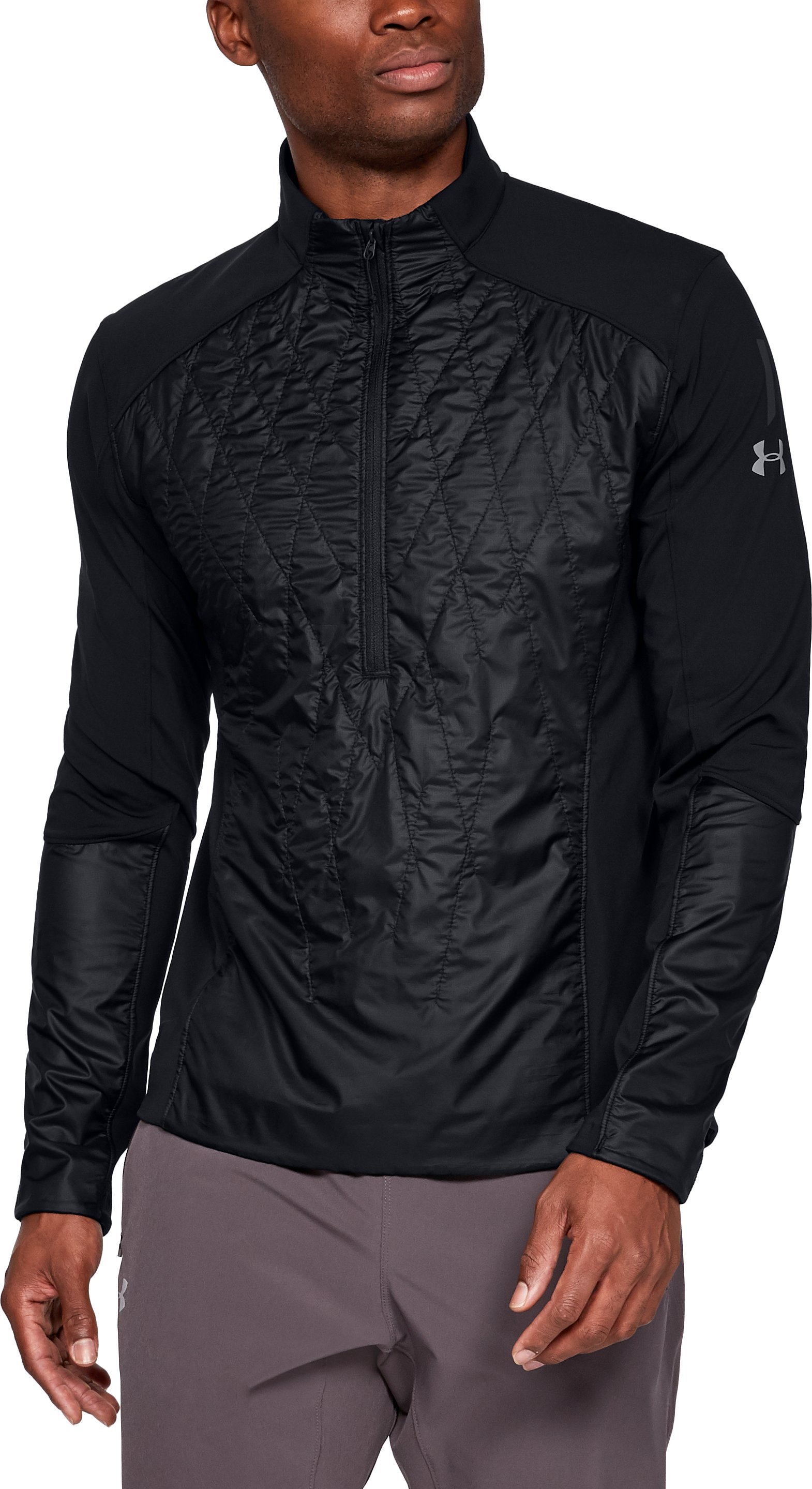 Men's UA Terrain Hybrid ½ Zip Jacket, Black