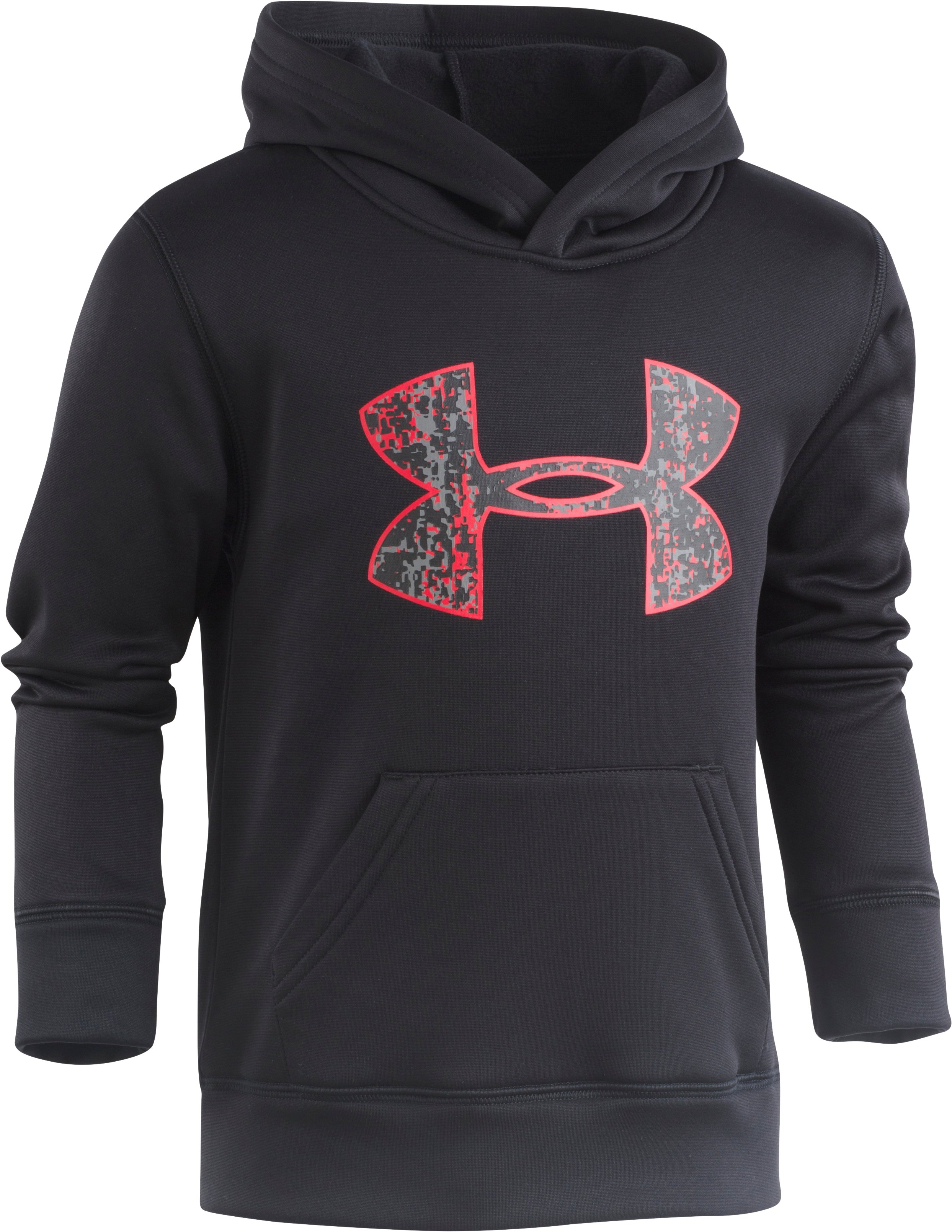 Boys' Pre-School UA Digital City Pullover Hoodie, Black , Laydown