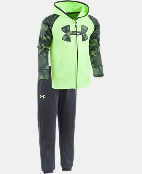 New to Outlet Boys' Pre-School UA Utility Hoodie Track Set LIMITED TIME OFFER 2 Colors $34.49