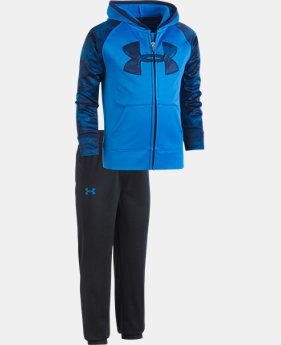Boys' Pre-School UA Utility Hoodie Track Set  1  Color Available $52.99