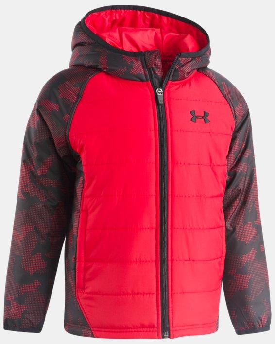 Boys' Pre-School UA Utility Werewolf Puffer Jacket, Red, pdpMainDesktop image number 0