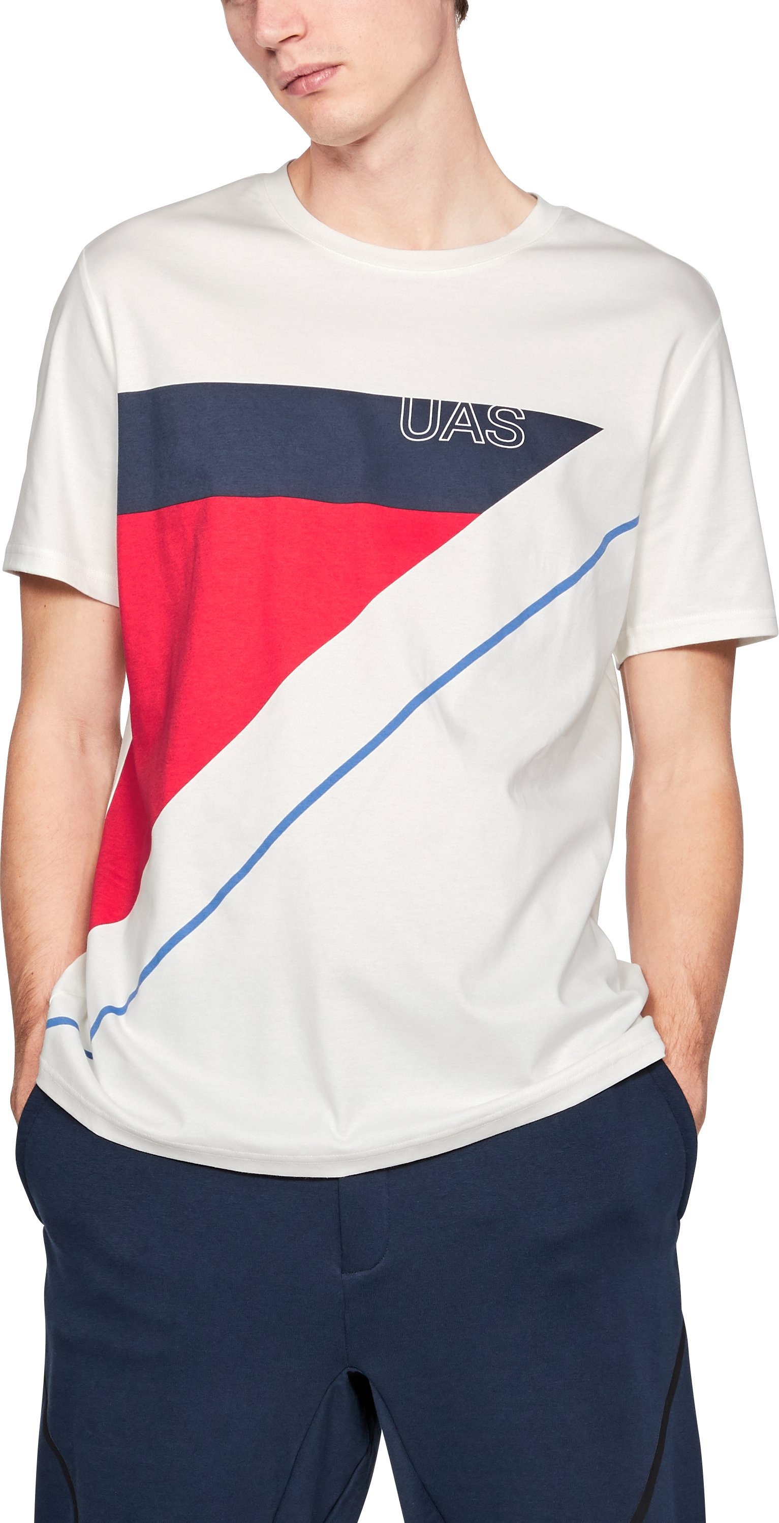 Men's UAS Delta Geo T-Shirt, White, undefined