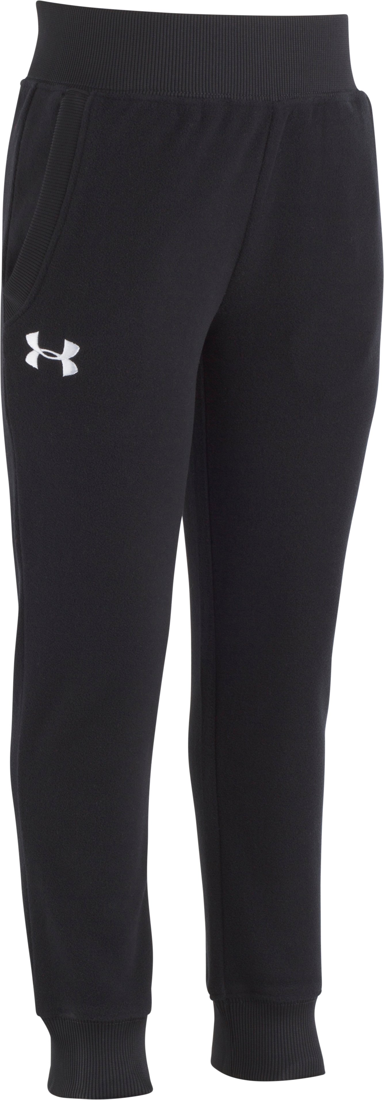 Girls Pre-School UA Hundo Joggers, Black , Laydown