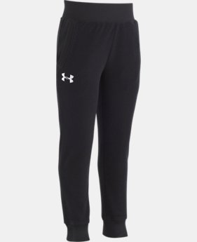 New Arrival  Girls Pre-School UA Hundo Joggers  1  Color Available $35