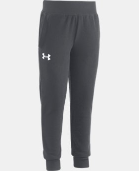 New Arrival Girls' Pre-School UA Hundo Jogger  1 Color $29.99