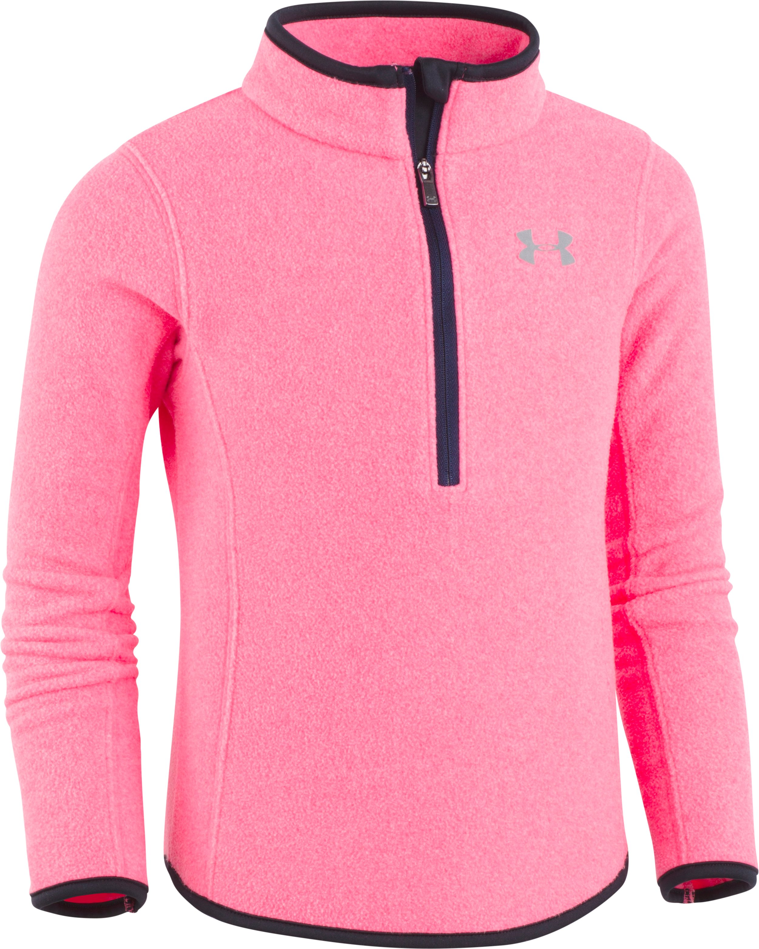Girls' Pre-School UA Heathered 1/4 Zip, PENTA PINK