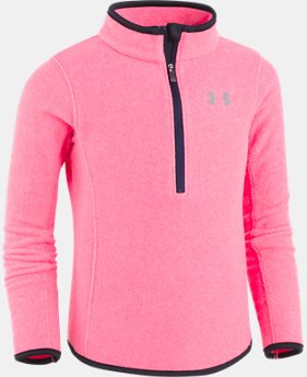 New Arrival Girls' Pre-School UA Heathered 1/4 Zip  1 Color $32.99