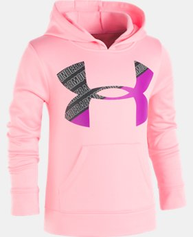 Girls' Pre-School UA Wordmark Big Logo Hoodie  1 Color $39.99