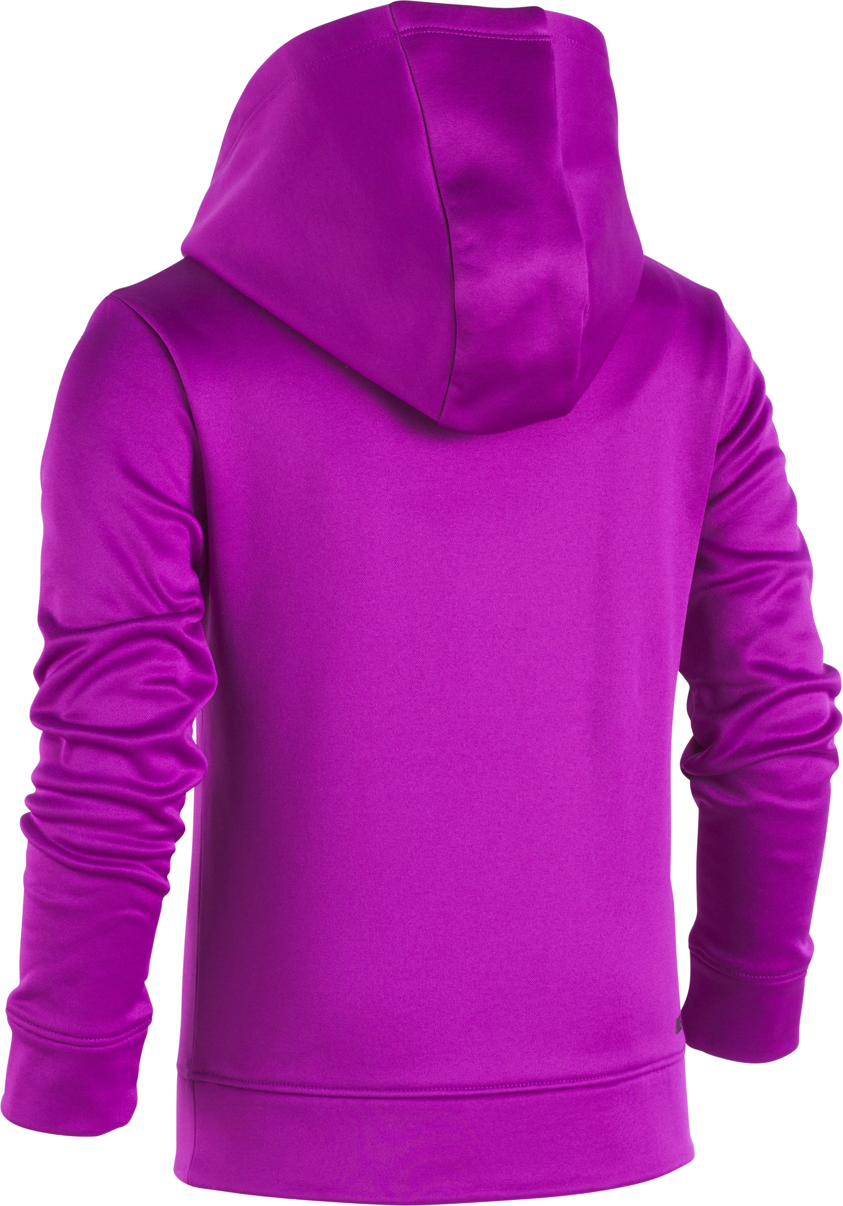 Girls' Pre-School UA Rush Big Logo Hoodie, PURPLE RAVE