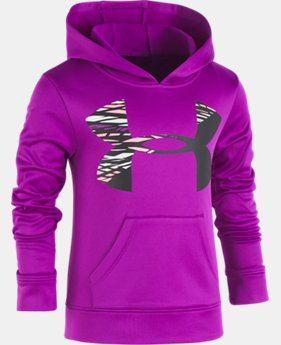 New Arrival  Girls' Pre-School UA Rush Big Logo Hoodie  1  Color Available $46.99