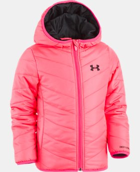 New Arrival Girls' Pre-School UA Premier Puffer Jacket  1 Color $59.99