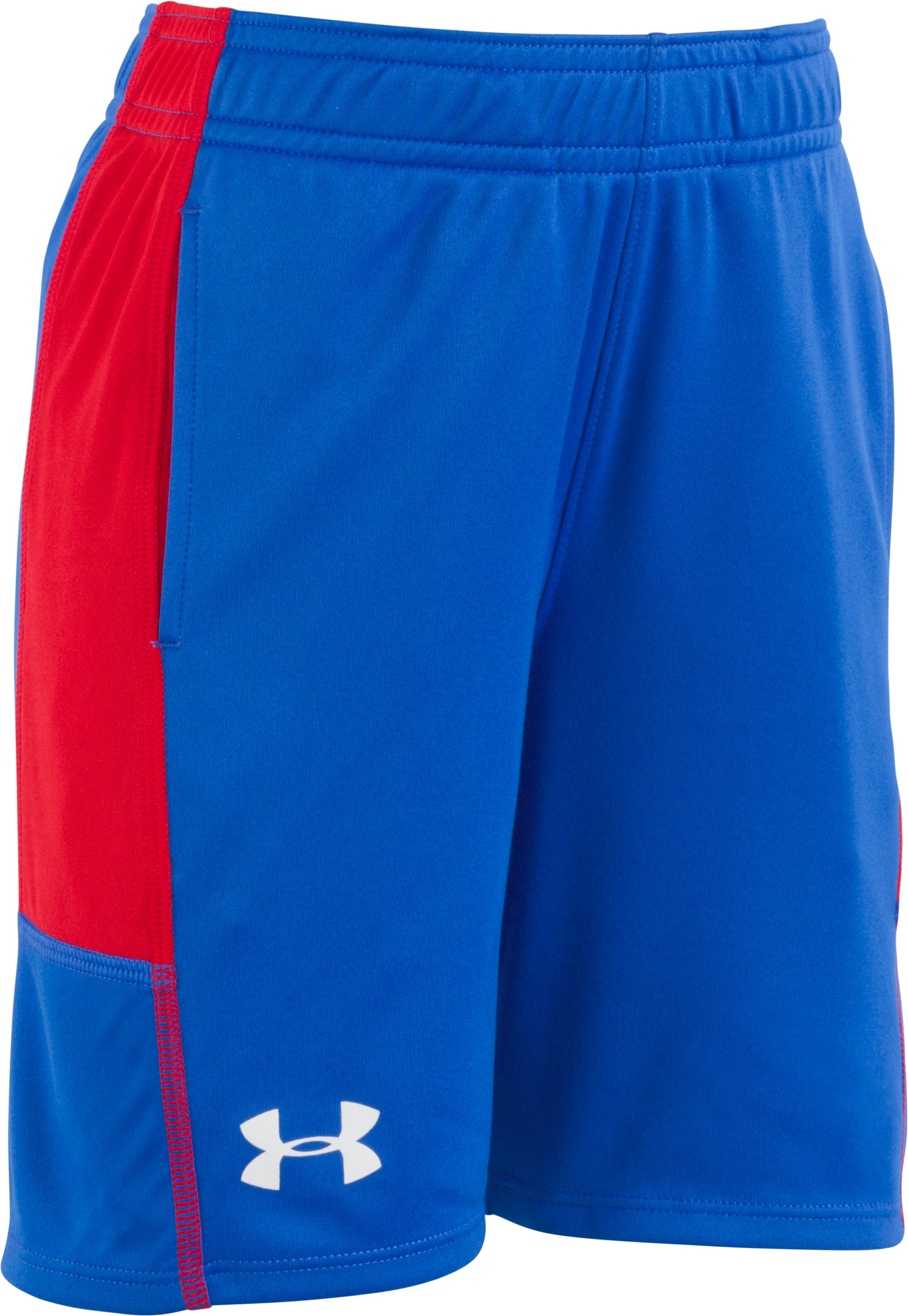 Boys' Pre-School UA Stunt Shorts, ULTRA BLUE, Laydown